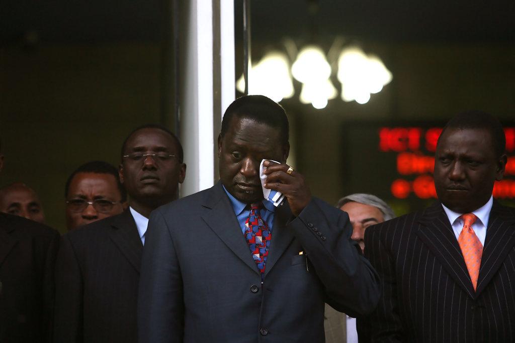 Raila Odinga po prohře v prezidentských volbách 2008